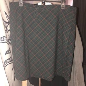 NWOT plaid skirt